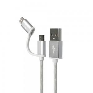 Cable 2 en 1 conector...