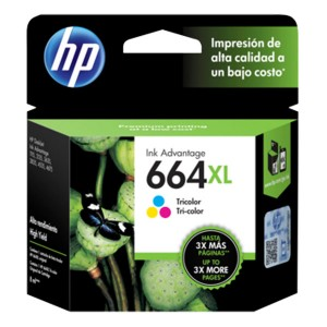 Cartucho HP Color #664 XL (F6V30AL)
