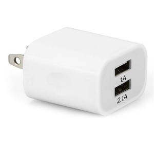 Adaptador Dual USB de Pared 2.1 A (ARG-AC-0105)