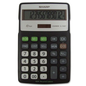 Calculadora Sharp ELR287BBK 12 Digitos