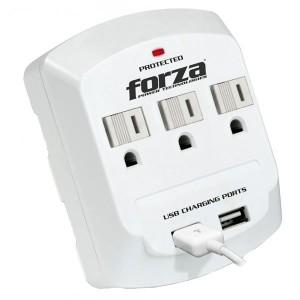 Regleta Forza 3 Out y 2 USB (FWT-730USB)
