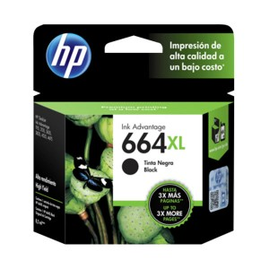 Cartucho HP Negro #664 XL (F6V31AL)